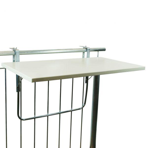 Balkonklapptisch, Metallplatte weiß, 50 x 94cm