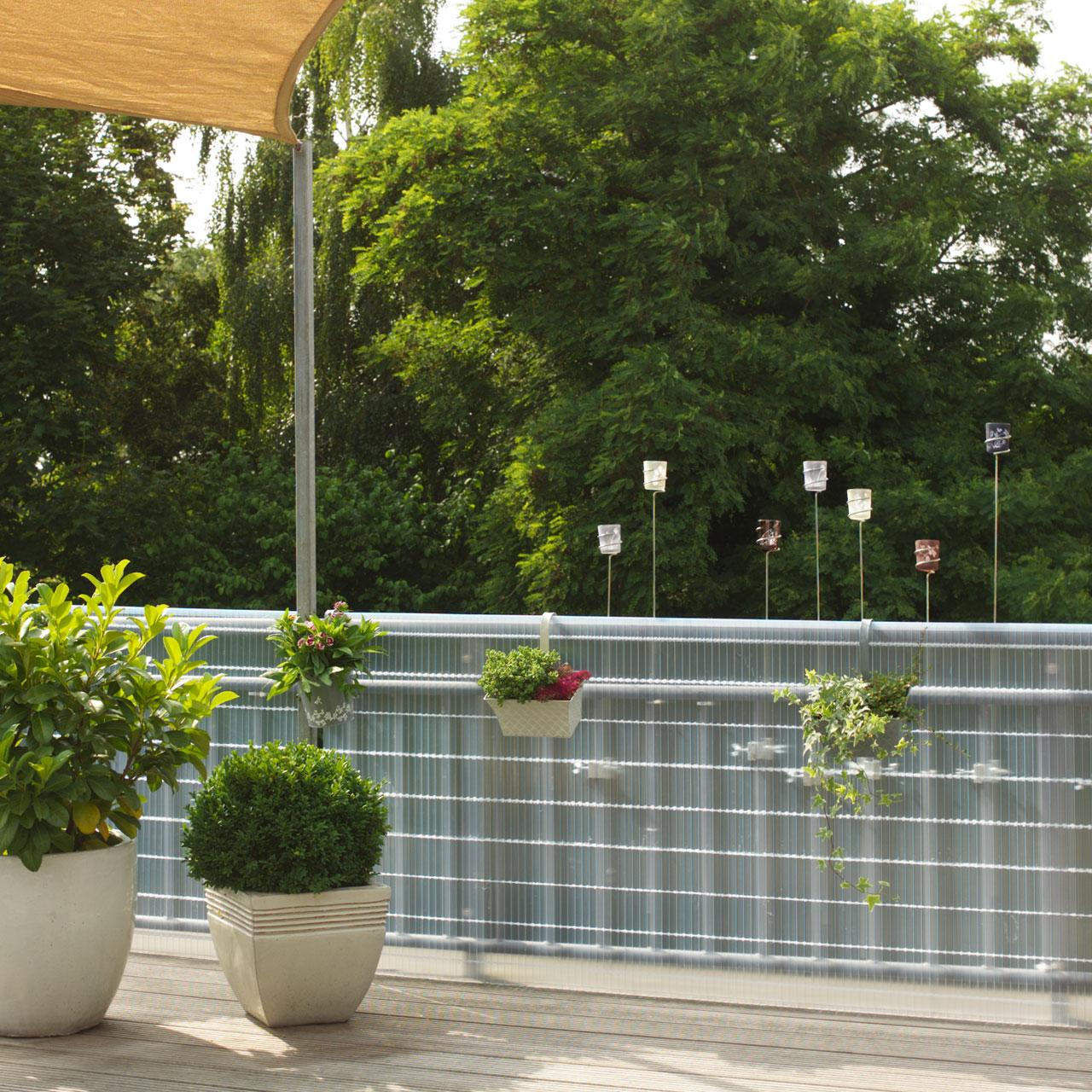 Sichtschutzmatte Kunststoff Meterware Sunline Transparent