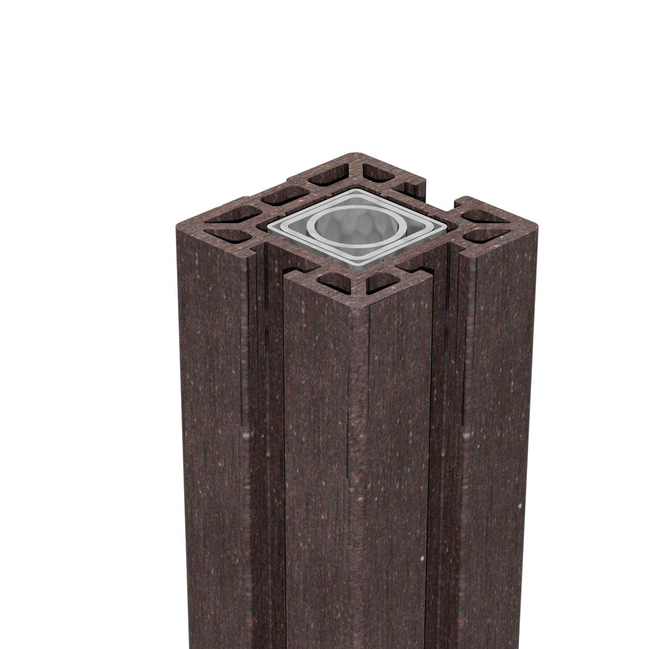 bpc pfosten 10x10 stecksystem solid anthrazit. Black Bedroom Furniture Sets. Home Design Ideas