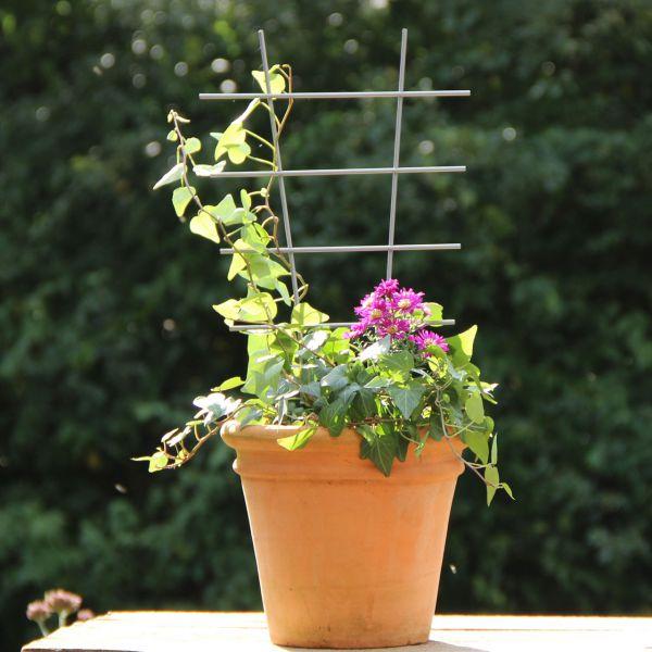 Metall-Blumenstütze Rankhilfe, silber