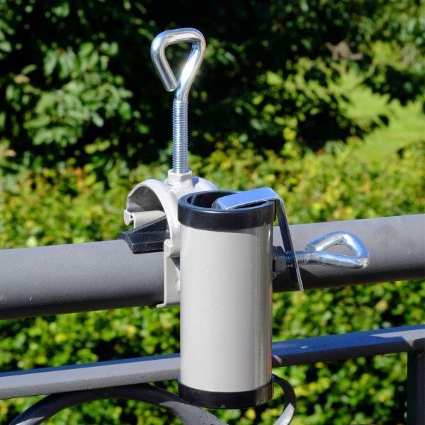 Sonnenschirmhalter Videx® für Handlauf H II, aluminium