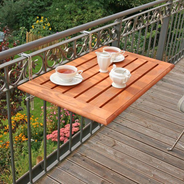 Balkonklapptisch, Bambusholz 50 x 80cm