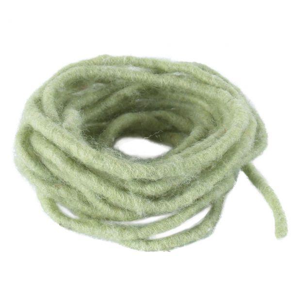 Woll-Dochtfaden, Ø 5 mm, lindgrün