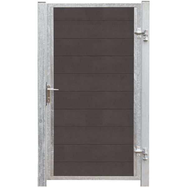 WPC Sichtschutz Tür, Futur anthrazit