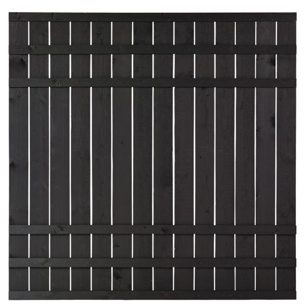 Sichtschutzwand Holz, Rustig schwarz