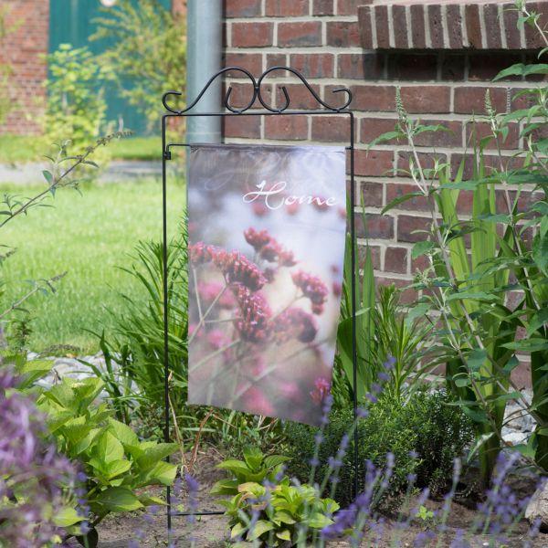 Gartenfahne - Blumenstecker Home