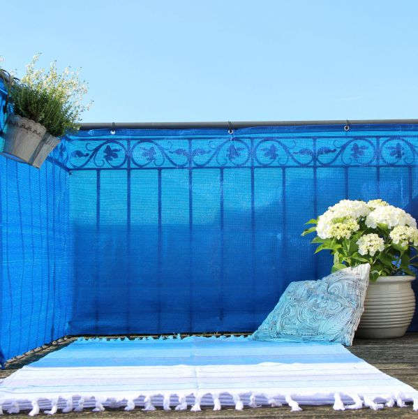 Balkonbespannung PE, Classic blau