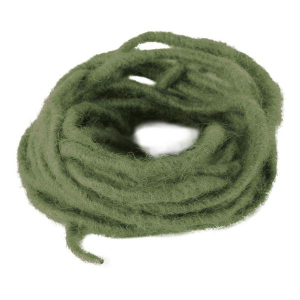 Woll-Dochtfaden, Ø 3-4mm, grün