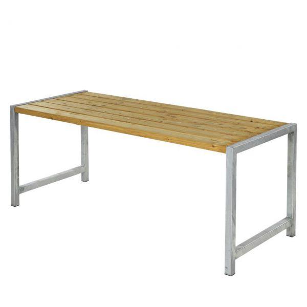 Gartentisch Planken, Stahlrahmen/Holz