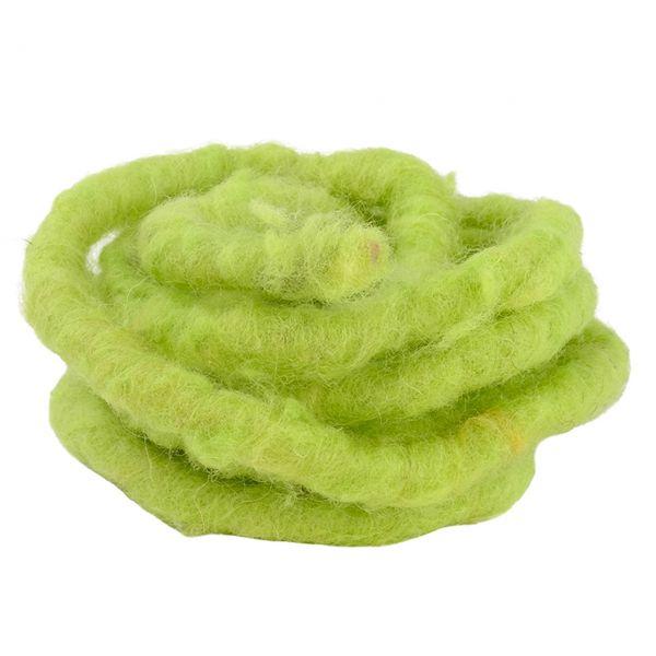 Woll-Filzkordel mit Draht Ø 15 mm, lindgrün