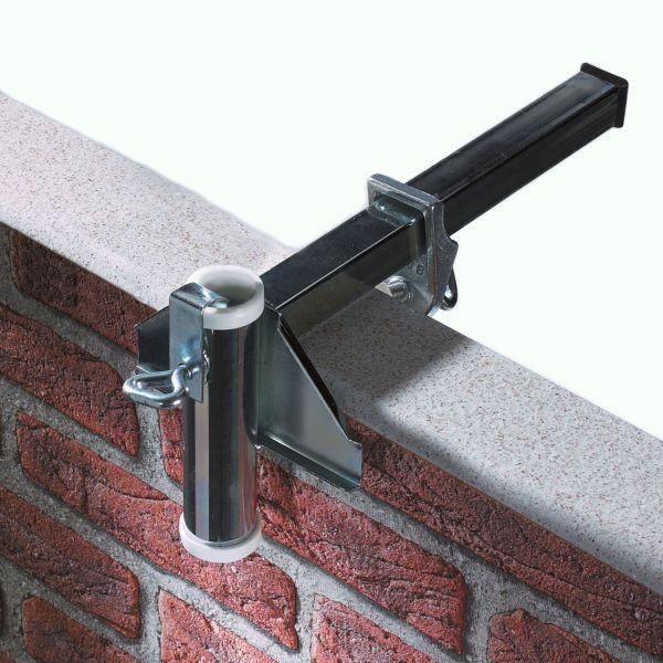 Sonnenschirmhalter Videx® für Balkon-Mauerbrüstung, verzinkt