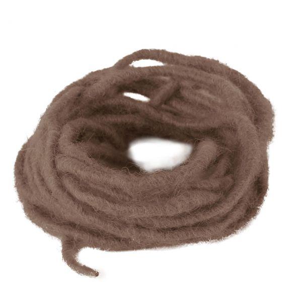 Woll-Dochtfaden, Ø 3-4mm, braun