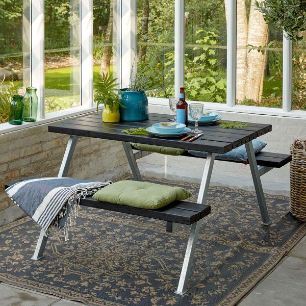 Picknicktisch mit Bänken ALPHA, 4 Plätze