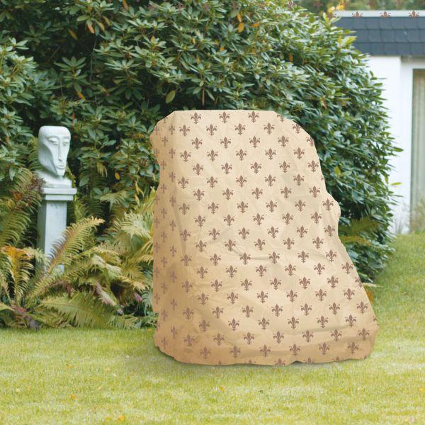 Gartenmöbel-Schutzhülle Hochlehner Sessel, Lilien-Design beige
