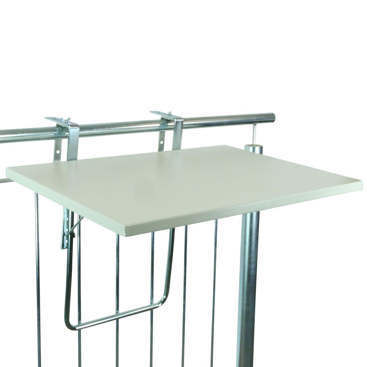 Videx balkonklapptisch werzalitplatte 50 x 70 cm grau for Wohnzimmertisch 70 x 50