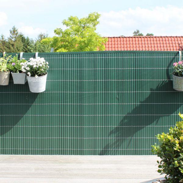 Sichtschutzmatte Kunststoff Montageset, Rügen grün