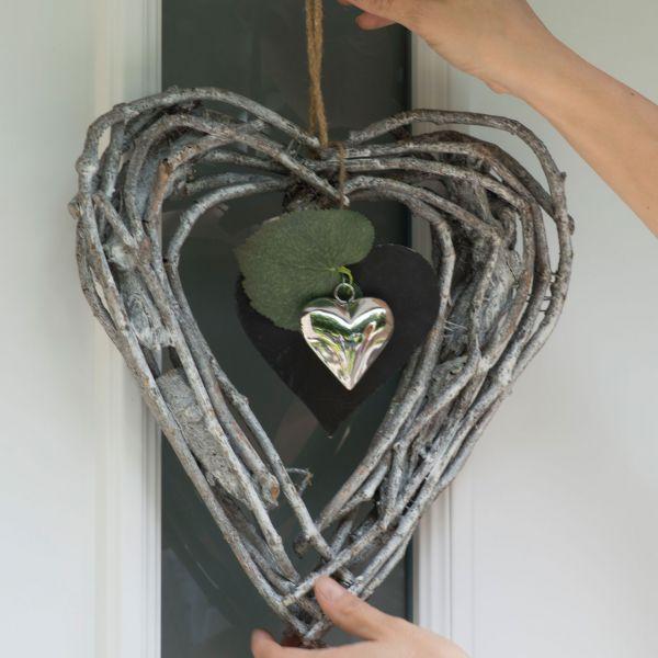 Deko-Hänger Herz Leonie, natur