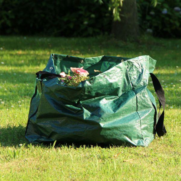 Gartentabfall-Tasche rechteckig, grün