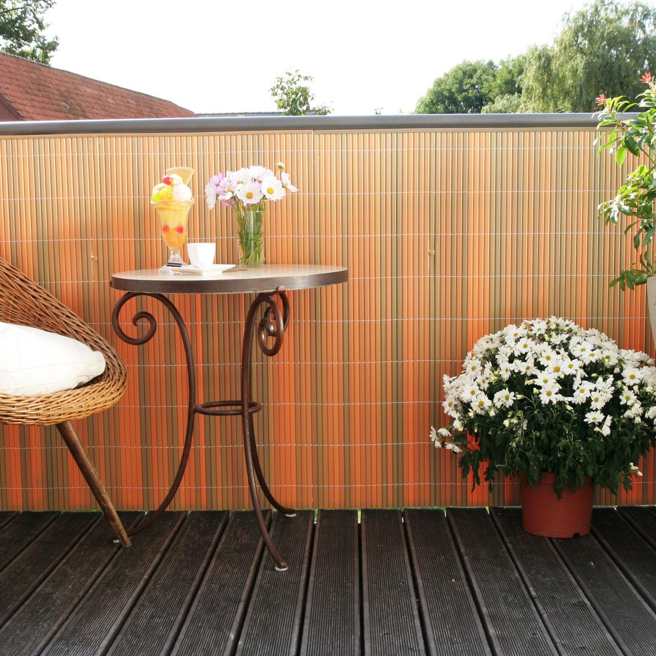 sichtschutzmatte kunststoff r gen teak. Black Bedroom Furniture Sets. Home Design Ideas