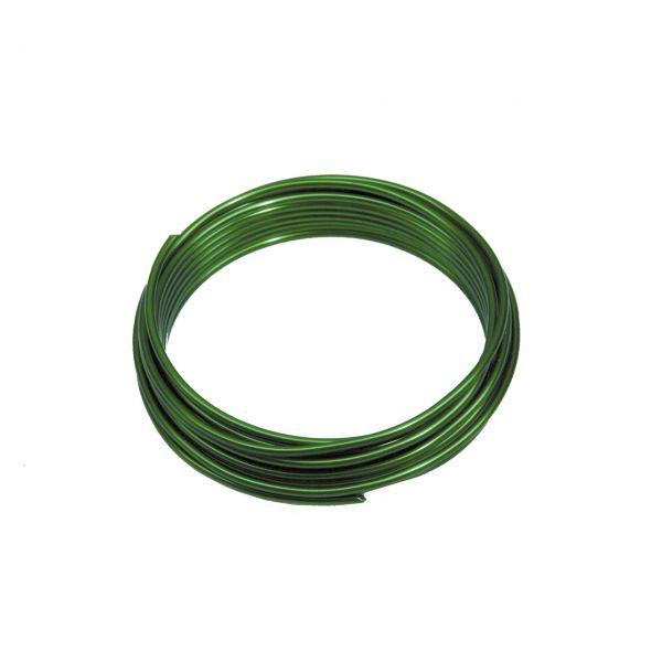 Deko-Aludraht Ø 2mm, grün