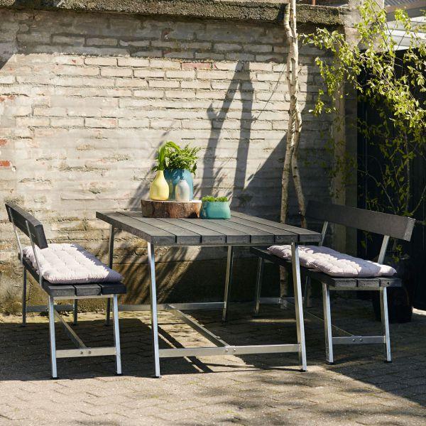 Gartentisch & Bänke mit Lehnen ROYAL, Set 177cm