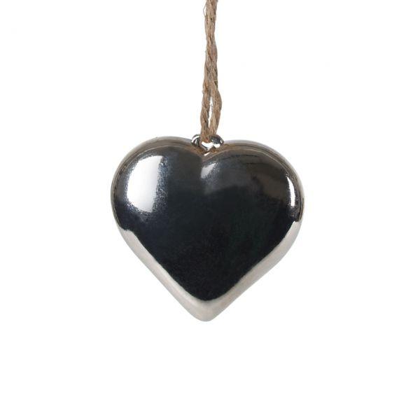 Deko-Anhänger Herz Shine, silber