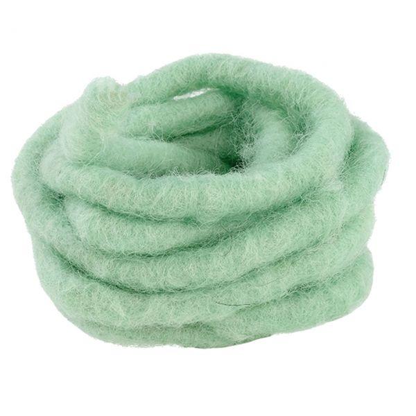 Woll-Filzkordel mit Draht Ø 15 mm, mint