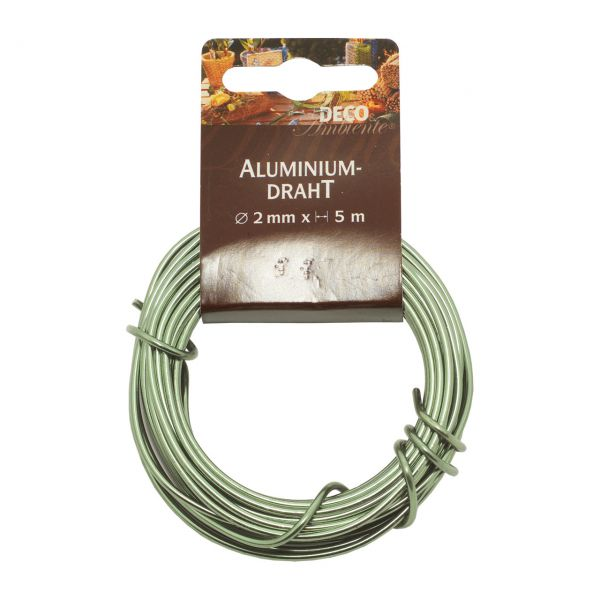 Deko-Aludraht Ø 2mm, lindgrün