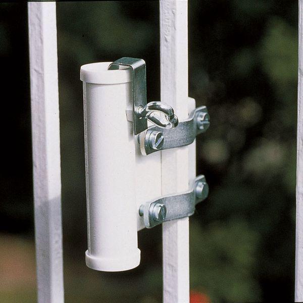 Sonnenschirmhalter Videx® für Balkongitter, weiß