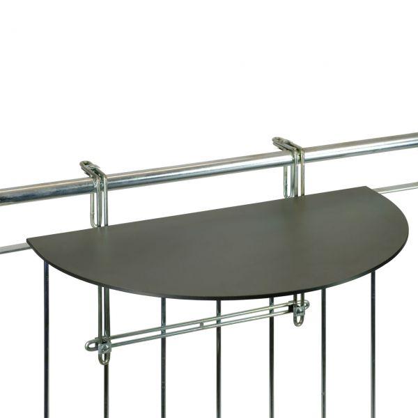 Balkonklapptisch, HPL - Tischplatte, anthrazit, 43 x 75 cm