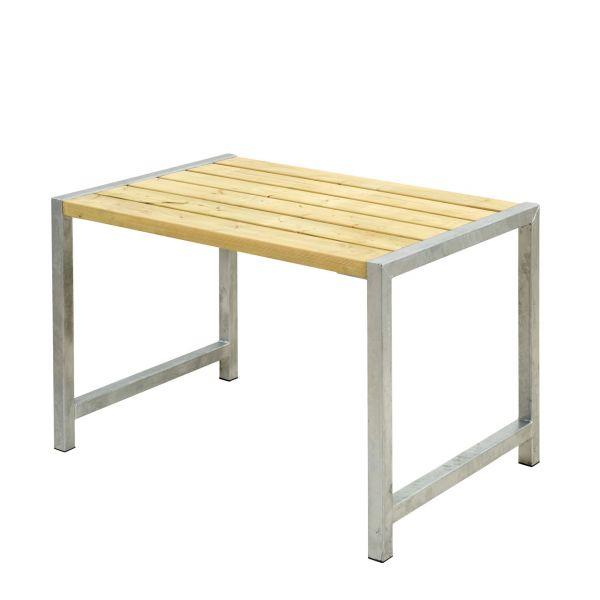 Balkontisch PLANKEN, Stahlrahmen & Holz