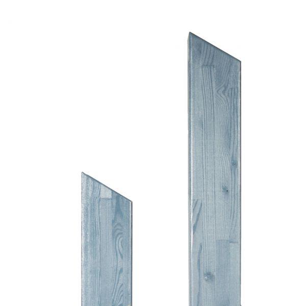 Pfosten Leimholz Lärche 9x9cm, Pult 30° alpingrau