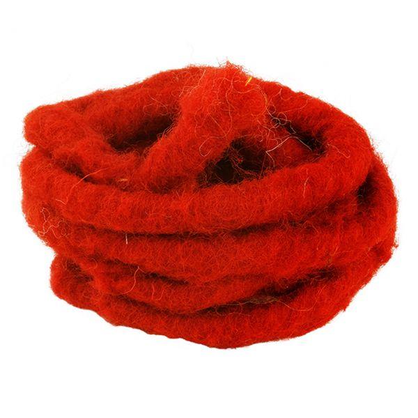 Woll-Filzkordel mit Draht Ø 15 mm, rot