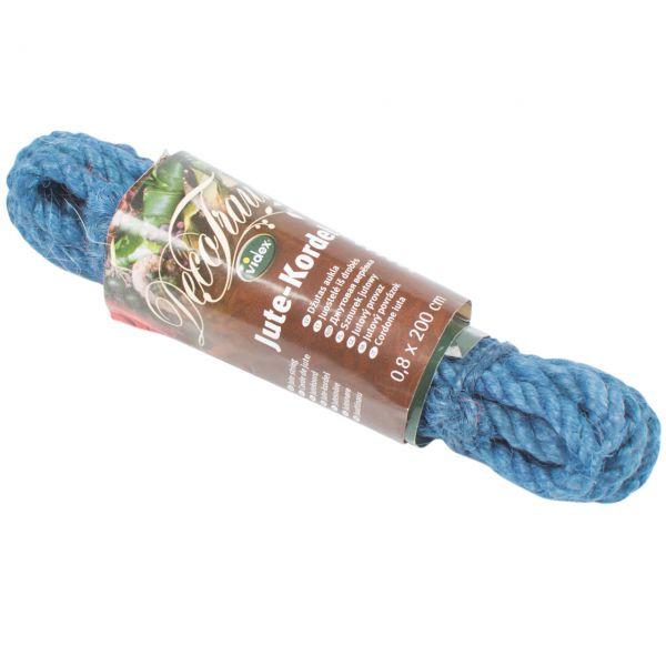 farbige Jutekordel, schmal Ø 8 mm, dunkel-blau