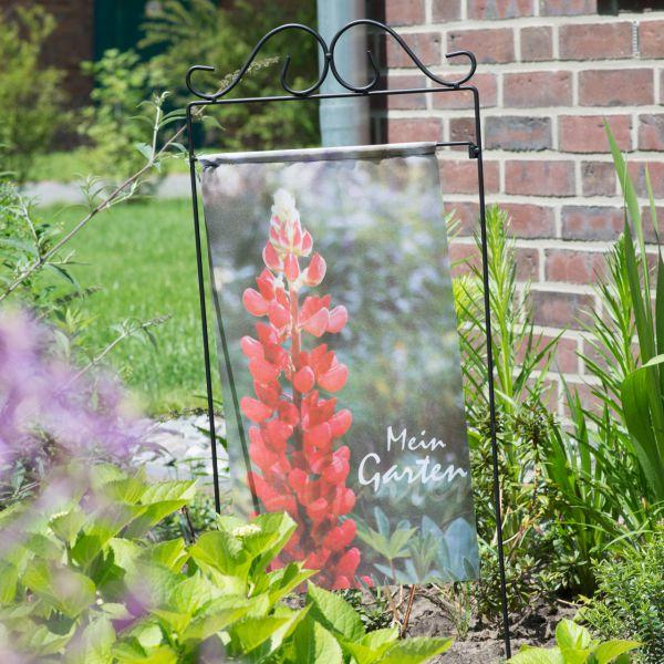Gartenfahne - Blumenstecker Lupine