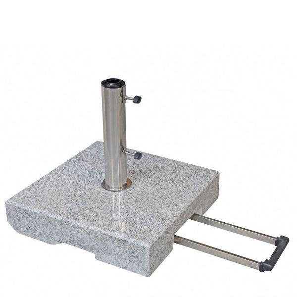 Sonnenschirmständer Granit Trolley