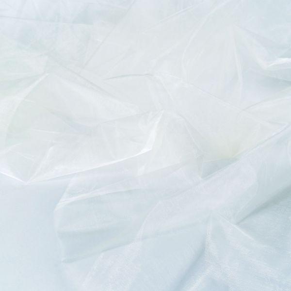Dekostoff Organza, cremeweiß