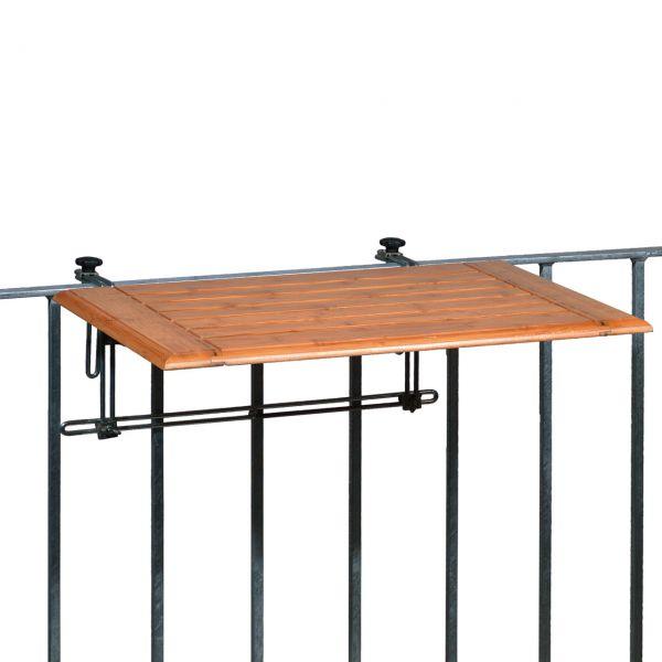 Balkonklapptisch, Holz 50 x 80 cm