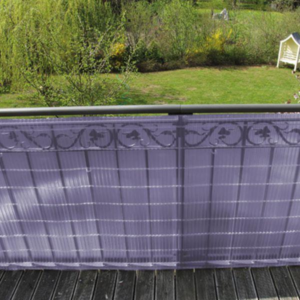 sichtschutzmatte kunststoff montageset sunline flieder. Black Bedroom Furniture Sets. Home Design Ideas