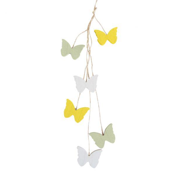 Holz-Girlande Schmetterlinge