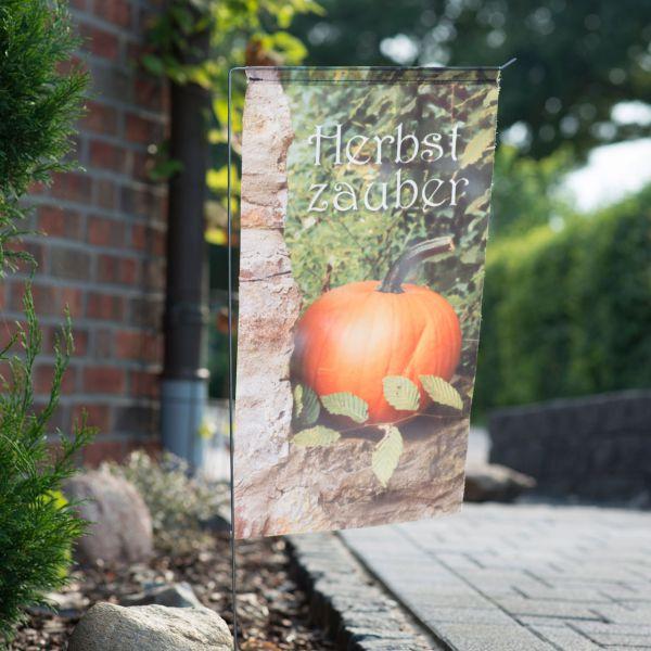 Gartenfahne - Blumenstecker Herbstzauber