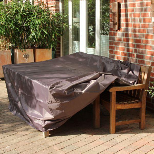 Gartenmöbel-Schutzhülle rechteckige Tischgruppe, taupe