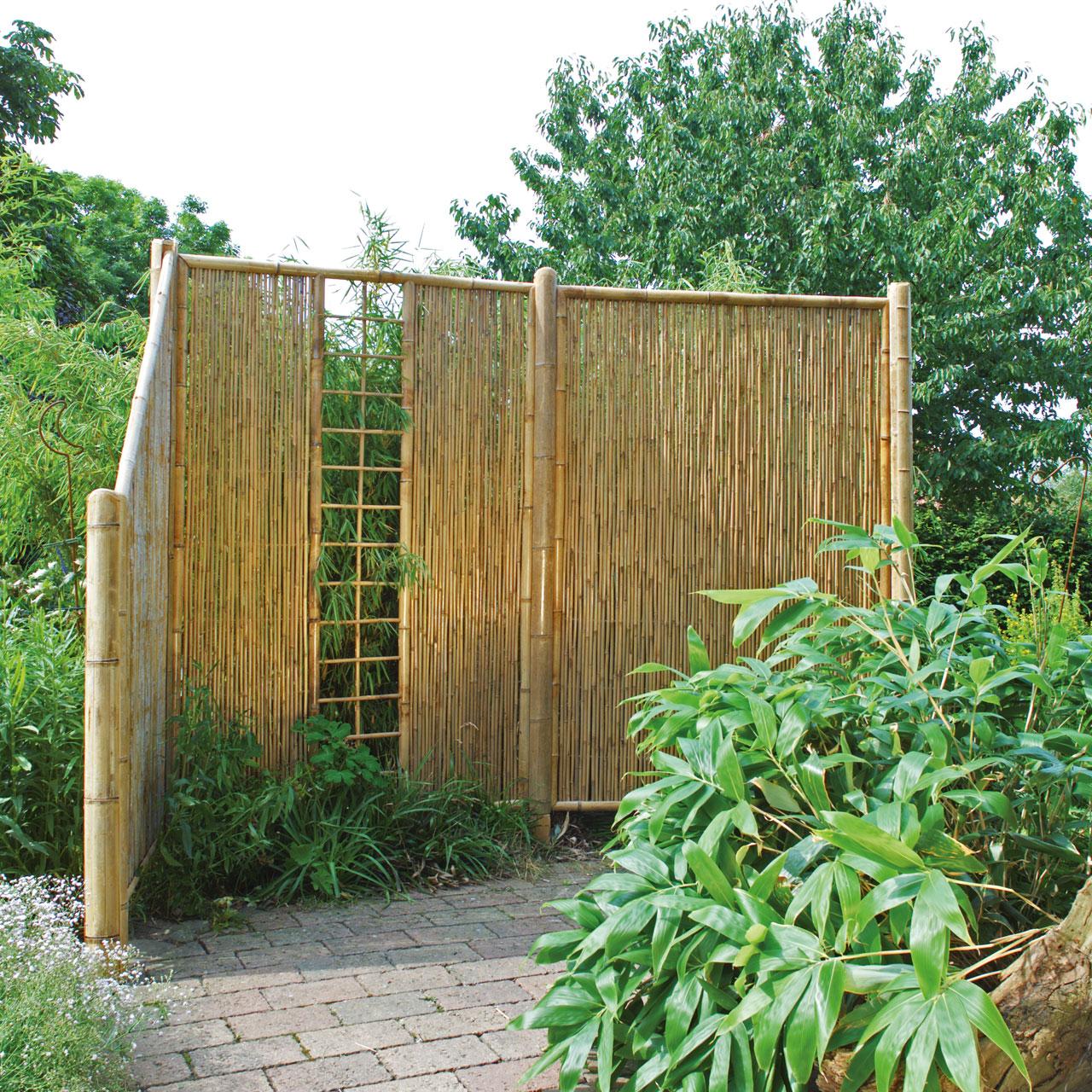 sichtschutzwand bambus zen spalier. Black Bedroom Furniture Sets. Home Design Ideas