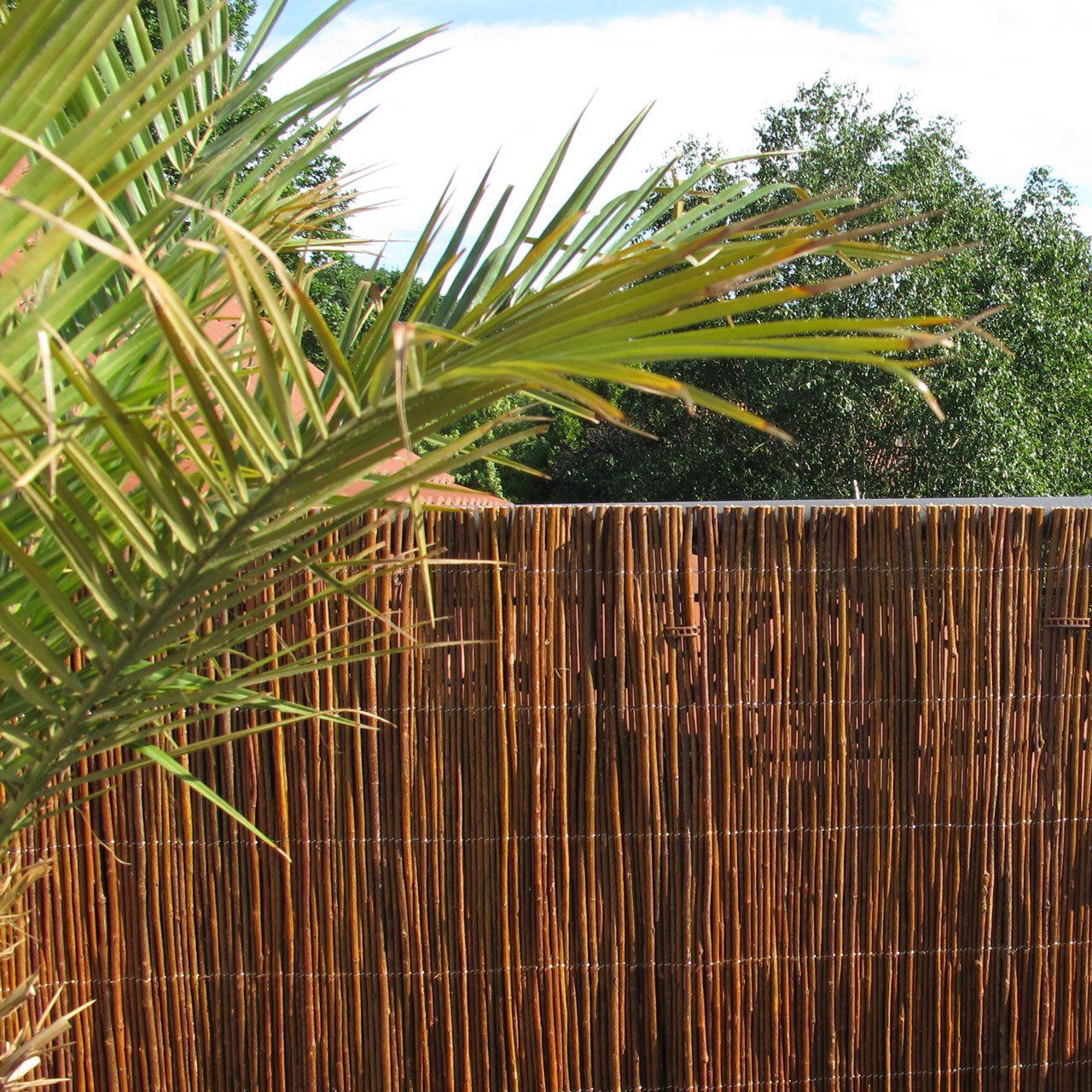 Weidenmatte Balkonverkleidung Provence dunkel