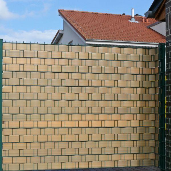 Sichtschutzstreifen Hart-PVC, Woodline teak