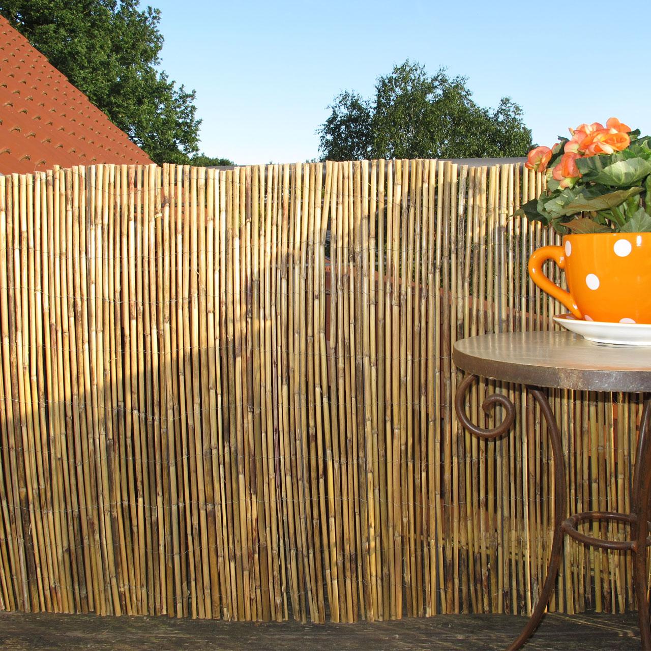 bambusmatte gef llt balkonverkleidung macao natur. Black Bedroom Furniture Sets. Home Design Ideas
