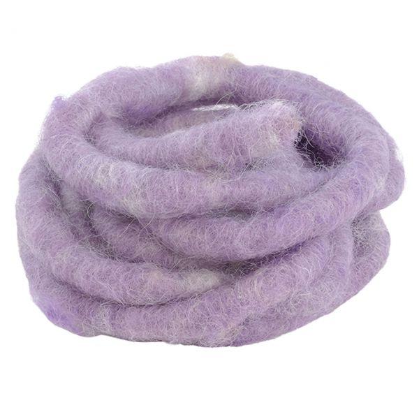 Woll-Filzkordel mit Draht Ø 15 mm, flieder