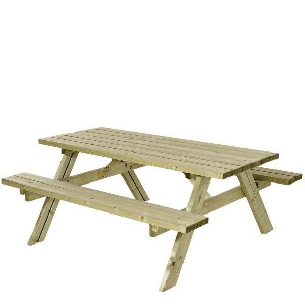 Picknicktisch mit Bänken SCANDIC, Holz