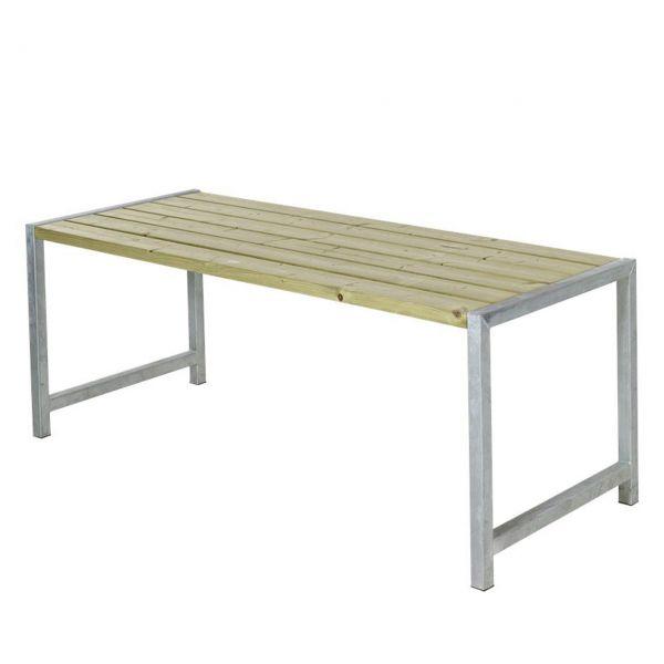Gartentisch PLANKEN, Stahlrahmen & Holz