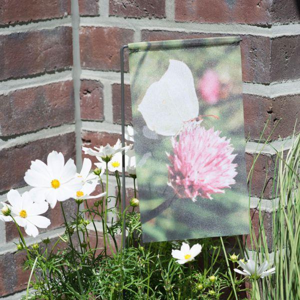 Gartenfahne - Blumenstecker Schmetterling